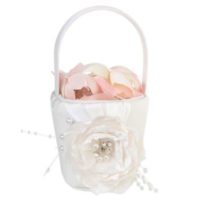 Cream Flower Basket