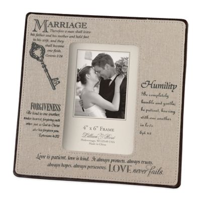 "4"" x 6 Wedding Frame"