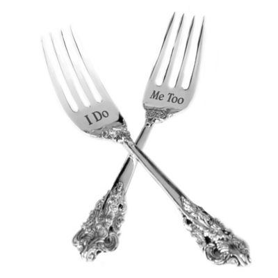 "Lillian Rose™ ""I Do"" and ""Me Too"" Forks (Set of 2)"