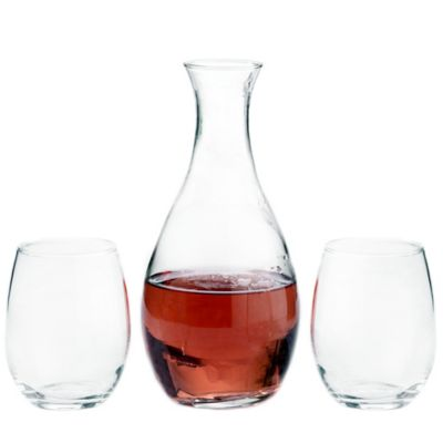 Lillian Rose™ Decanter and Stemless Wine Glasses (Set of 2)