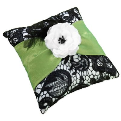 Lillian Rose™ Green & Black Ring Pillow