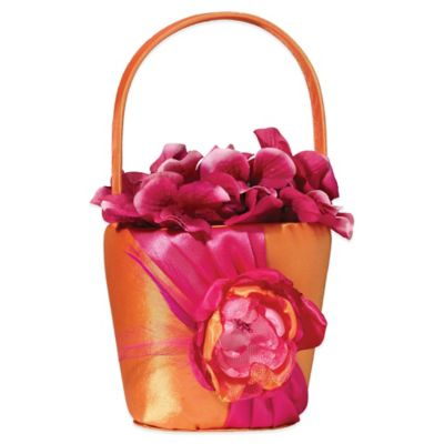 Lillian Rose™ Flower Basket in Hot Pink/Orange