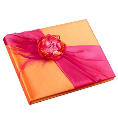 Lillian Rose™ Wedding Guest Book in Hot Pink/Orange