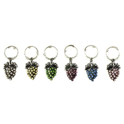All for Giving Grape Cluster Wine Glass Charms (Set of 6)
