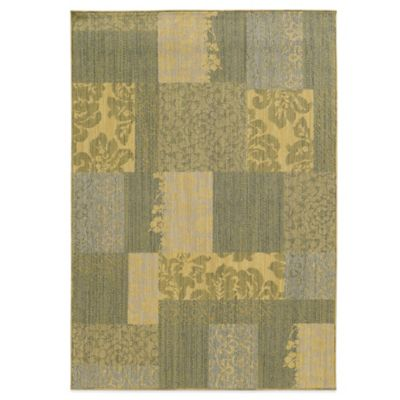 Tommy Bahama® Cabana Collection Patchwork 3-Foot 10-Inch x 5-Foot 5-Inch Rug in Green
