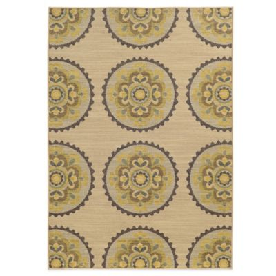 Tommy Bahama® Cabana Collection Suzani Ivory 9-Foot 10-Inch x 12-Foot 10-Inch Rug