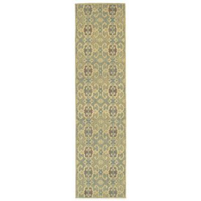 Tommy Bahama® Cabana Collection Geometric Green 1-Foot 10-Inch x 7-Foot 6-Inch Runner