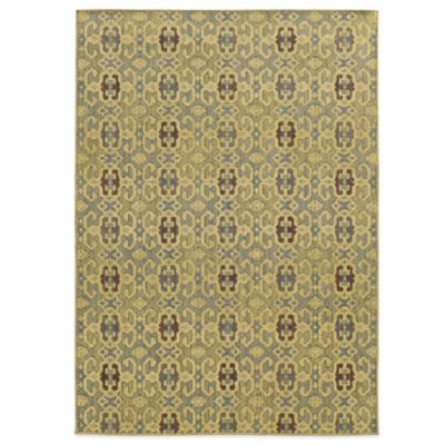 Tommy Bahama® Cabana Collection Geometric Green 3-Foot 10-Inch x 5-Foot 5-Inch Rug