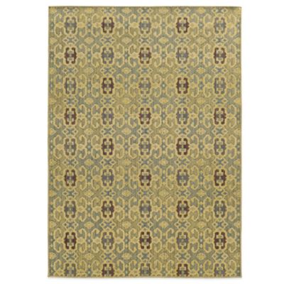 Tommy Bahama® Cabana Collection Geometric Green 5-Foot 3-Inch x 7-Foot 6-Inch Rug