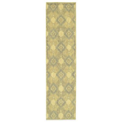 Tommy Bahama® Cabana Collection Ikat Green 1-Foot 10-Inch x 7-Foot 6-Inch Runner