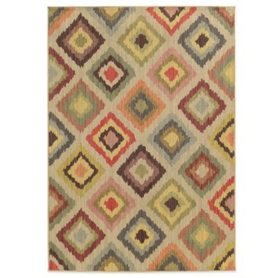 Diamonds 7-Foot 10-Inch x 10-Foot 10-Inch Rug