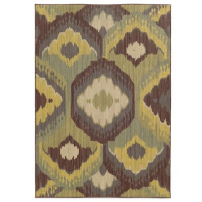 Tommy Bahama® Cabana Collection Ikat Brown 3-Foot 10-Inch x 5-Foot 5-Inch Rug