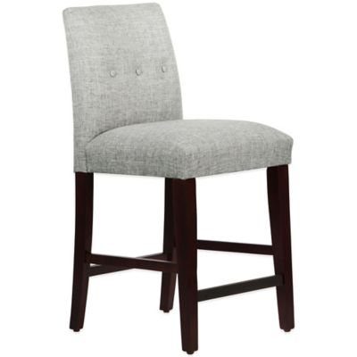 Skyline Furniture Ariana Tapered Counter Stool with Buttons in Zuma Pumice