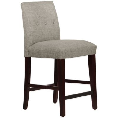 Skyline Furniture Ariana Tapered Counter Stool with Buttons in Zuma Feather