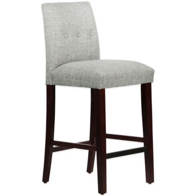 Skyline Furniture Ariana Tapered Barstool with Buttons in Zuma Pumice
