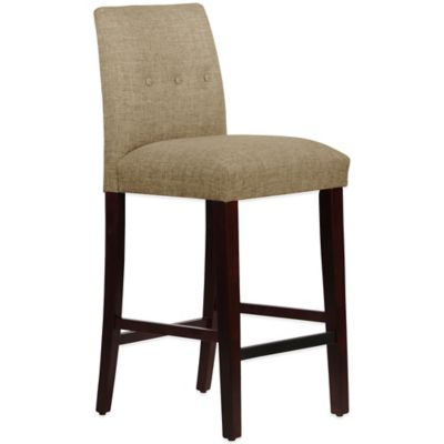 Skyline Furniture Ariana Tapered Barstool with Buttons in Zuma Cobblestone