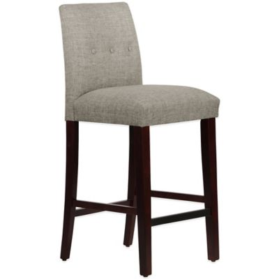 Skyline Furniture Ariana Tapered Barstool with Buttons in Zuma Feather