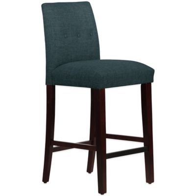 Skyline Furniture Ariana Tapered Barstool with Buttons in Zuma Navy