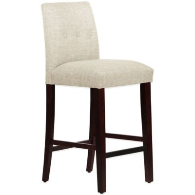 Skyline Furniture Ariana Tapered Barstool with Buttons in Zuma Vanilla
