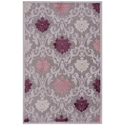 Jaipur Fables Glamour 5-Foot x 7-Foot 6-Inch Area Rug in Grey/Purple
