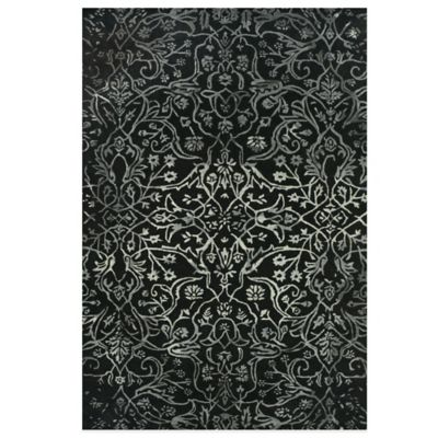 5 6 Black White Area Rug