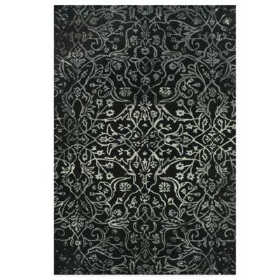 Feizy Beloha 8-Foot x 11-Foot Rug in Black/White