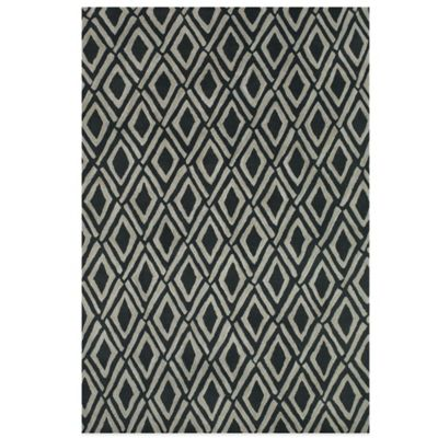 Feizy Diamonds 1-Foot 6-Inch x 1-Foot 6-Inch Rug in Grey/Black