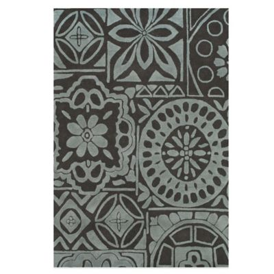 Brown Floral Handcrafted Rug