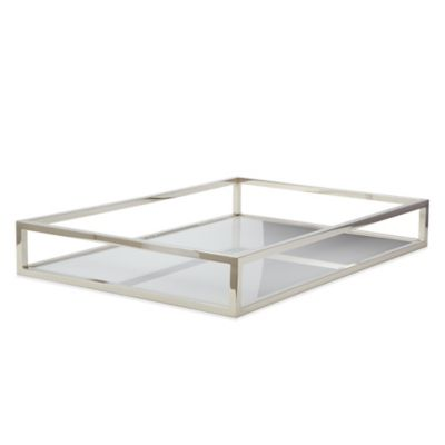 Dimond Home Rectangular Box Rod Tray in White