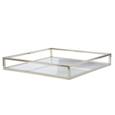 Dimond Home Square Box Rod Tray in White