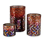 Red Ombre Mosaic Hurricanes (Set of 3)