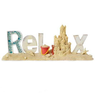 """Tabletop Coastal """"Relax"""" Sign"""