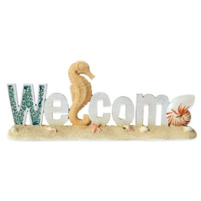 "Tabletop Coastal ""Welcome"" Decoration"