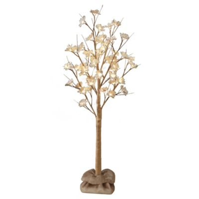 Plug-In LED 4-Foot Lighted Magnolia Tree