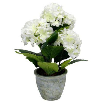 Round Paper Pot Faux Florals