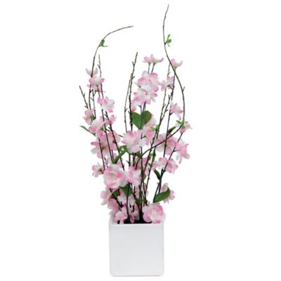 23-Inch Cherry Blossom in Ceramic Pot