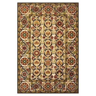 Feizy Border Circles 5-Foot x 7-Foot 6-Inch Indoor/Outdoor Rug in Light Gold