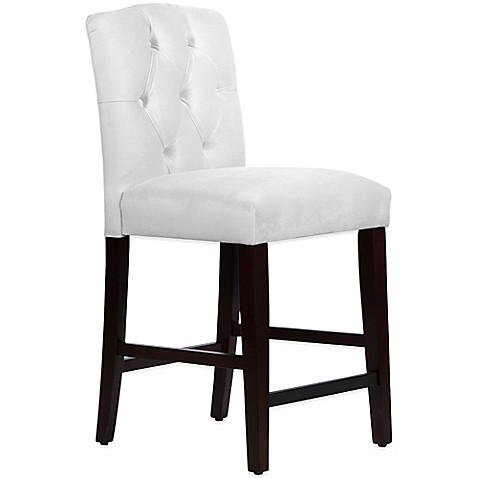 Skyline Furniture Denise Tufted Arched Counter Stool In