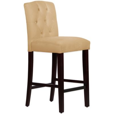 Skyline Furniture Denise Tufted Arched Barstool in Velvet Buckwheat