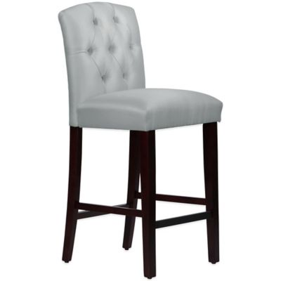Skyline Furniture Denise Tufted Arched Barstool in Shantung Silver