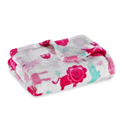 Baby Starters® Silky Soft Safari Blanket in Pink
