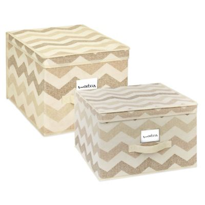 ClosetCandie Extra Large Textured Chevron Storage Box