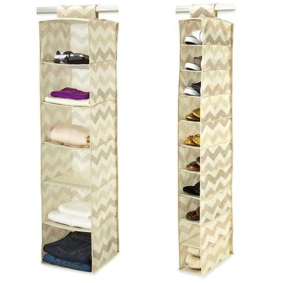 ClosetCandie Textured Chevron 10-Shelf Shoe Organizer