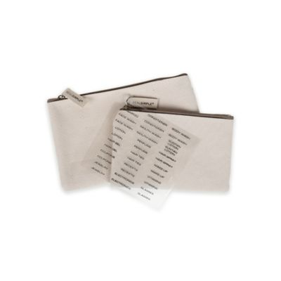 Real Simple® 2-Piece Canvas Storage Pouch Set