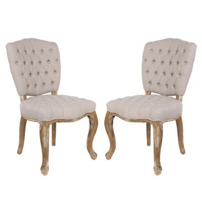 Safavieh Sylvia Side Chairs in Natural (Set of 2)