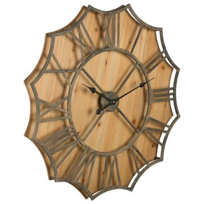 Metallic Wood Wall Clocks