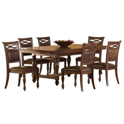 Hillsdale Seaton Springs 7-Piece Dining Set in Walnut