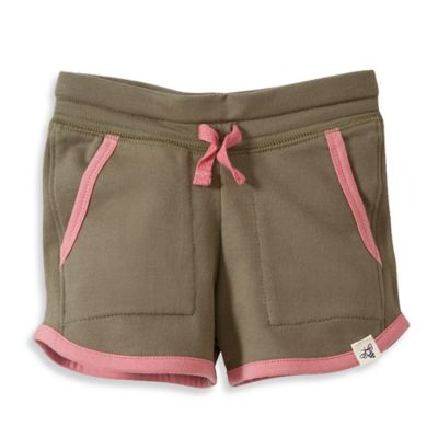 Burt's Bees Baby® Size 0-3M Organic Cotton French Terry Jogging Short in Olive/Pink