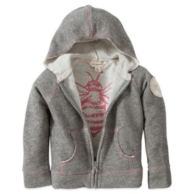 Burt's Bees Baby™ Size 3T Organic Cotton Loose Terry Patch Hoodie in Heather Grey