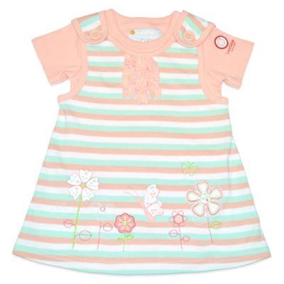 LuvGear™ SunAlert™ Newborn 2-Piece Short-Sleeve Jumper Dress and Bodysuit Set in Coral